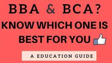 BCA Vs. BBA